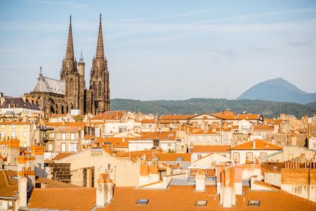 프랑스 클레르 몽 페랑 (Clermont-Ferrand)시 스톡 콘텐츠