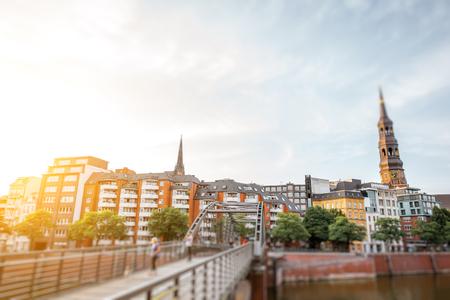Hamburg city in Germany Stock Photo