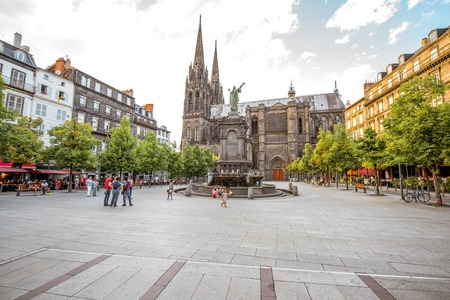 Clermont-Ferrand city in France Editorial