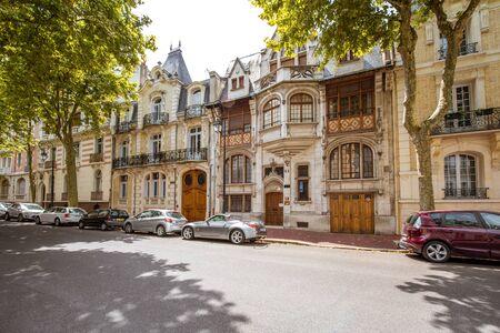 Buildings in Vichy city , France Editorial