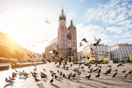 Krakow city in Poland 版權商用圖片