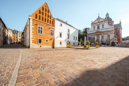 Krakow city in Poland Stock Photo
