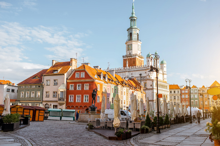 Poznan city in Krakow Stok Fotoğraf