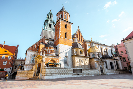 Wawel castle hill in Krakow