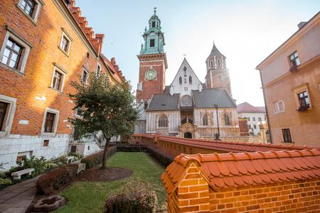 Wawel castle hill in Krakow
