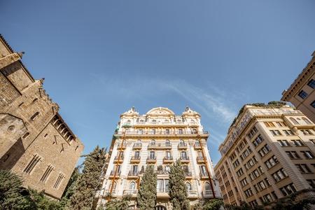 Vecchia città di Barcellona Archivio Fotografico - 89810442