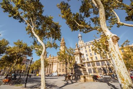 Vista della città di Barcellona Archivio Fotografico - 89810503