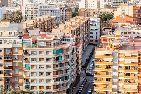 Vista della città di Barcellona Archivio Fotografico - 89962322