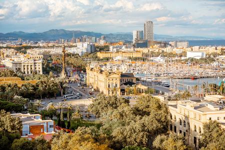 Barcelona city view