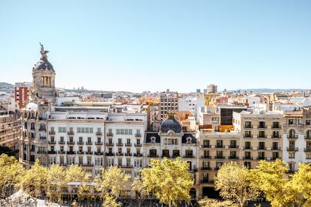 Vista della città di Barcellona Archivio Fotografico - 88250090