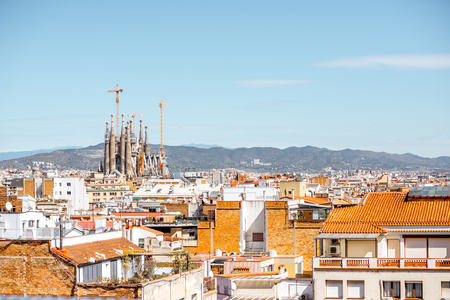 Barcelona city view