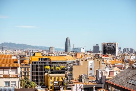 Vista della città di Barcellona Archivio Fotografico - 88250116