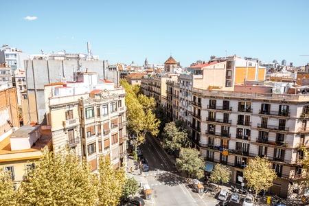 Vista della città di Barcellona Archivio Fotografico - 88250125