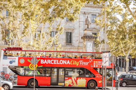 Vista della città di Barcellona Archivio Fotografico - 87317239