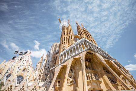 バルセロナのサグラダ ・ ファミリア教会 報道画像