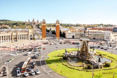 Uitzicht op de stad Barcelona Redactioneel