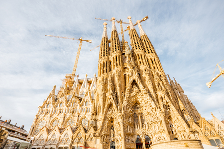 sagrada: Sagrada Familia church in Barcelona