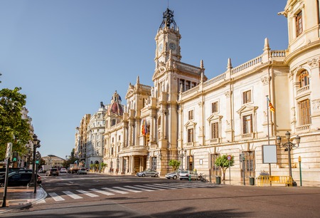 CIty hall building during the morning light in Valencia city in Spain Reklamní fotografie