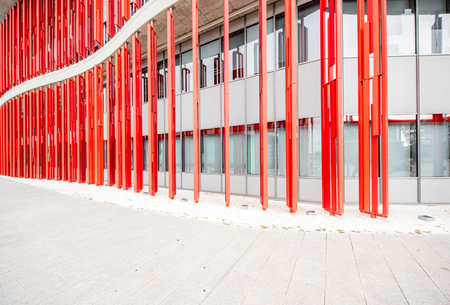 Colorful fasade of the modern building for background Stock fotó