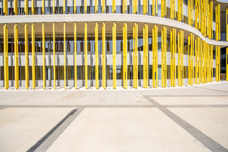 Colorful fasade of the modern building for background Banco de Imagens