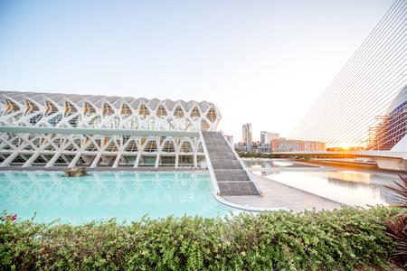 발렌시아, 스페인 - 2017 년 8 월 19 일 : 발렌시아의 산티아고 칼라 트라 바 (Santiago Calatrava)와 펠릭스 칸델라 (Felix Candela)가 설계 한 예술
