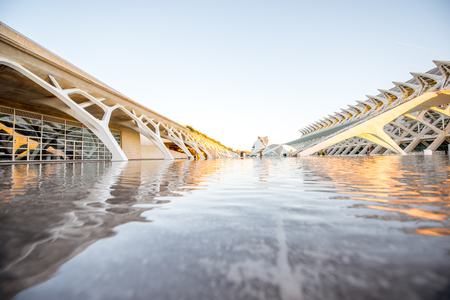 VALENCIA, SPAIN - August 19, 2017: The City of Arts and Sciences, cultural and architectural complex designed by Santiago Calatrava and Felix Candela in Valencia Stock Photo - 88661509