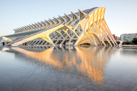 VALENCIA, SPAIN - August 19, 2017: The City of Arts and Sciences, cultural and architectural complex designed by Santiago Calatrava and Felix Candela in Valencia Editorial