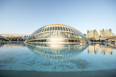 VALENCIA, SPAIN - August 19, 2017: The City of Arts and Sciences, cultural and architectural complex designed by Santiago Calatrava and Felix Candela in Valencia Stock Photo - 88661528