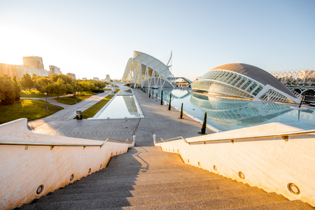 VALENCIA, SPAIN - August 19, 2017: The City of Arts and Sciences, cultural and architectural complex designed by Santiago Calatrava and Felix Candela in Valencia Redakční