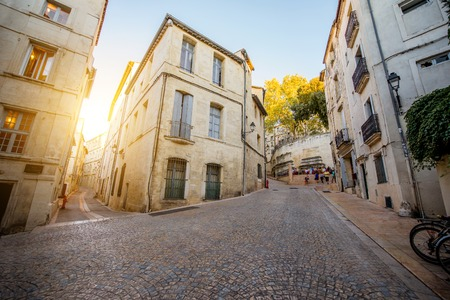 Street view at the old town of Montpellier city in Occitanie region in France 版權商用圖片 - 89666287