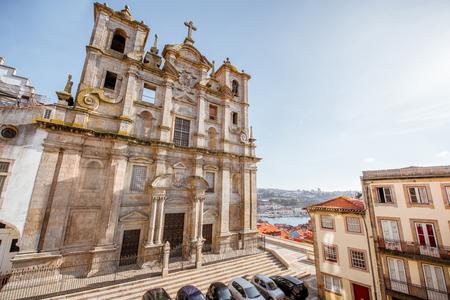 포르토 도시, 포르투갈에서 Igreja dos Grilos 교회의 외관에서 볼