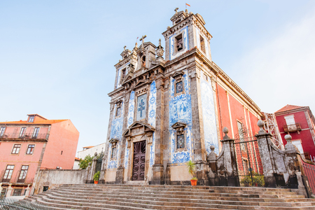 View on the church of Saint Ildephonsus of Toledo in Porto city, Portugal