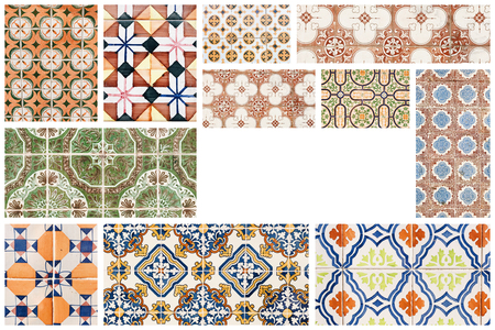 Beautiful collage of different traditional portuguese tiles called azulejos Banco de Imagens - 90670094