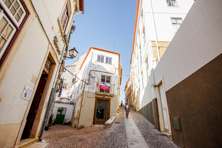 COIMBRA, PORTUGAL - September 26, 2017: View on the street in the old town of Coimbra city, Portugal