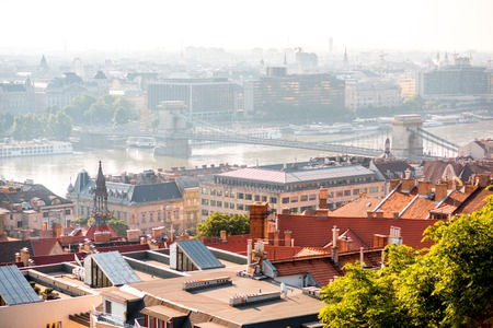 Cityscape view on Budapest city during the daylight in Hungary Reklamní fotografie