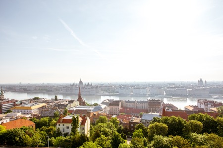 Cityscape view on Budapest city during the daylight in Hungary 写真素材