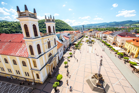 Old city center in Banska Bystrica city during the sunny weather in Slovakia Stock Photo - 105323245