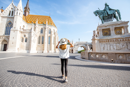 Woman traveling in Budapest