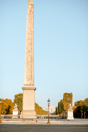 Luxor Obelisk on Corcordia square during the morning light in Paris
