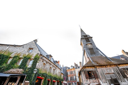 Saint Catherine Old wooden church in Honfleur, famuos french town in Normandy 写真素材