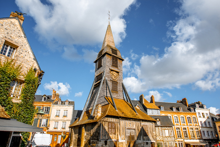 Saint Catherine Old wooden church in Honfleur, famuos french town in Normandy Stock Photo