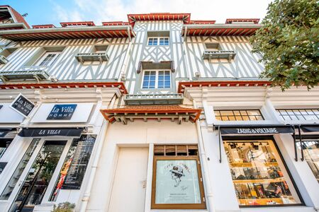 DEAUVILLE, FRANCE - September 06, 2017: First store front of the famous Coco Chanel located between the casino and the Hotel Normandy in Deauville Editorial