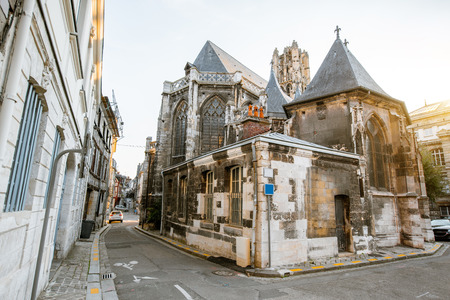 Backside of Saint-Godard church in Rouen, the capital of Normandy region in France