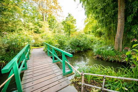 Landscape view on the beautiful Claud Monets garden, famous french impressionist painter in Giverny town in France