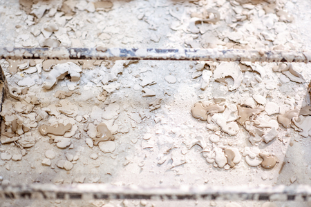 Floor with gypsum spots and smears, background image