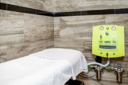 Room for hydrocolono therapy with special machine and couch in the SPA and medical salon Stok Fotoğraf