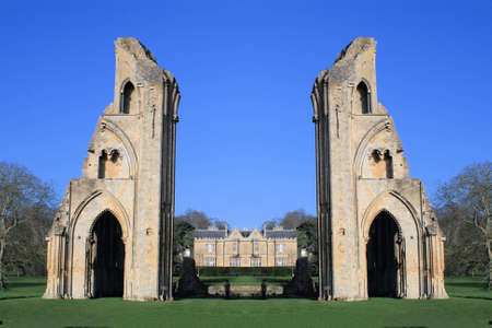 abbey: Glastonbury Abbey Stock Photo