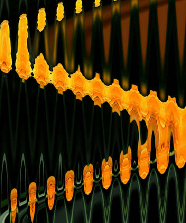 zag: Orange zig zag pattern Stock Photo