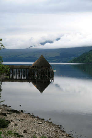 tay: Crannog in Loch Tay, Perthshire, Scotland Stock Photo