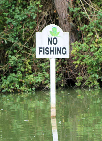 No fishing sign Stock Photo - 5607269